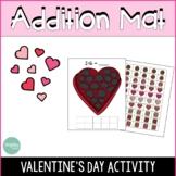 Valentines Day Math Addition Mats