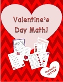 Valentine's Day Math Addition Packet--games, missing addend, worksheets, etc.