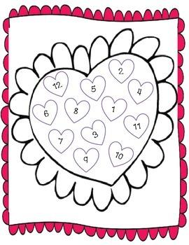 Valentine's Day Math Addition Packet--games, missing addend, worksheets, etc.