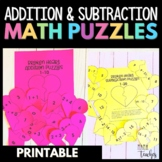 Valentines Day Math - Addition & Subtraction Puzzles