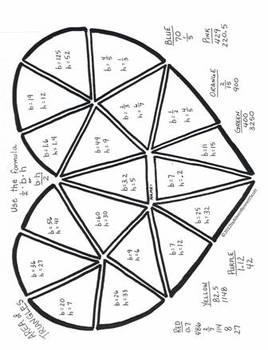 Valentine's Day Math Art middle school