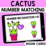 Valentines Day Math Boom Cards : Cactus Number Recognition 1-10 Boom Cards