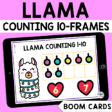 Valentines Day Math Boom Cards : Llama Counting 10-Frames