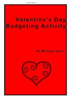 Valentine's Day Math Budget Activity 5th 6th 7th