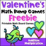 Valentine's Day Free: Valentine's Day Math Games: Valentine's Math Bump Games