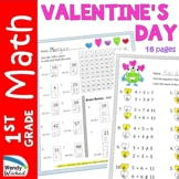 Valentine's Day Math Worksheets for First Grade