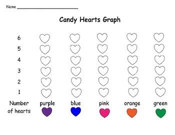 Valentine's Day Math Candy Heart Graph