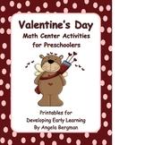 Valentine's Day - Math Center Activities for Preschoolers