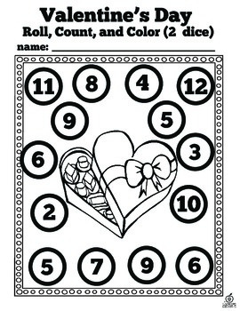 Valentine's Day Math Center Freebie for Preschool, Kindergarten, and First Grade