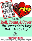 Valentine's Day Math Center Freebie for Preschool, Kinderg