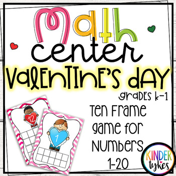 Valentine's Day Math Center Game (Numbers 1-20)