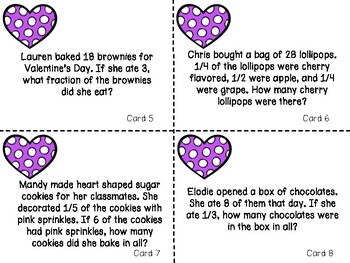 Valentine's Day Math Centers (3rd-4th)