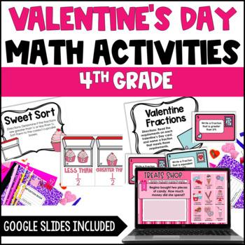 valentines day math centers 4th grade common core aligned