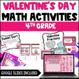Valentine's Day Math Activities | Digital Valentine Activities - 4th Grade