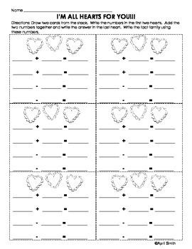 Valentine's Day Math Centers Packet