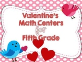 Valentine's Day Math Centers for Fifth Grade