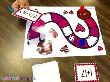 Valentine's Day Math Centers for First Grade