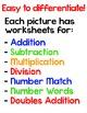 Valentine's Day Math - Addition, Subtraction, Multiplicati