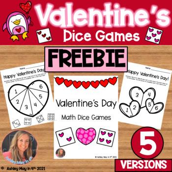 Valentine's Day Math Dice Game