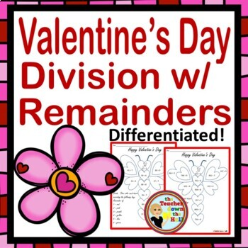 Valentine's Day Math - Division with Remainders