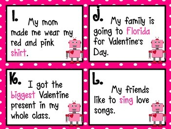 Valentine's Day Math & ELA I-Spy Task Cards