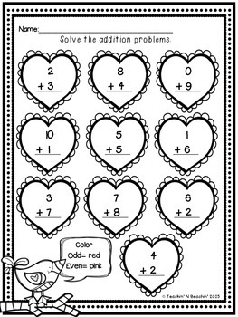 Valentine's Day Math & ELA Unit- Common Core