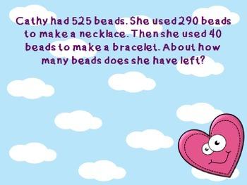 Valentine's Day Math Estimation Word Problems