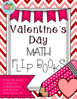 Valentine's Day Math Flip Books