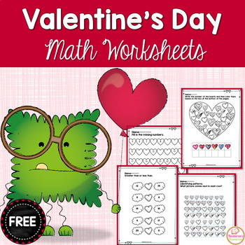 Free Valentine's Day Math Worksheets