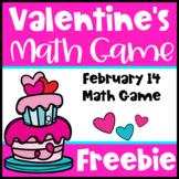 Valentine's Day Free: Valentine's Day Math Game for Valentine's Math Center
