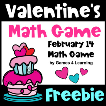 Free Valentine's Day: Valentine's Day Math Game