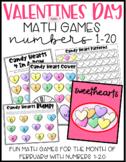 Valentines Day Math Games 1-20
