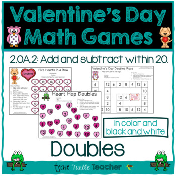 Valentine's Day Math Games - Doubles