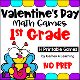 Valentine's Day Activities: Valentine's Day Math Games First Grade
