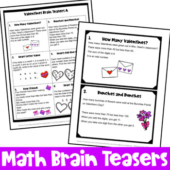 Valentine S Day Activity Valentine S Day Math Games Puzzles And