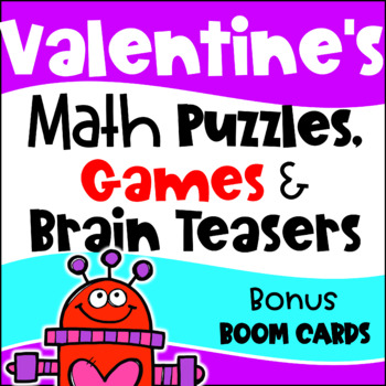 photograph relating to Printable Maths Games and Puzzles identified as Valentines Working day Math Actions - Online games, Puzzles and Thoughts