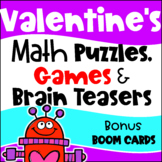 Valentine's Day Math Activities - Games, Puzzles and Brain Teasers