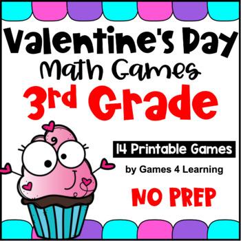 Valentine's Day Activities: Valentine's Day Math Games Third Grade