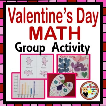 Valentine's Day Math Group Activity - Fractions, Geometry, and Graphing