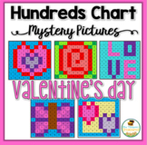 Valentine's Day Math Hundreds Chart Mystery Pictures