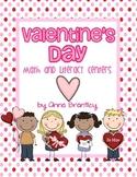 Valentine's Day Math & Literacy Centers