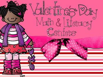 Valentine's Day Math & Literacy Centers (CCSS)