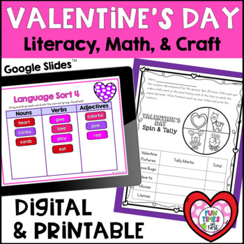Valentine's Day Math & Literacy Fun