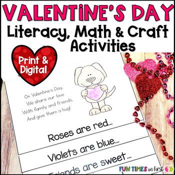Valentine's Day Math & Literacy Fun