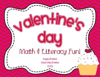 Valentine's Day Math & Literacy Games & Center Fun!