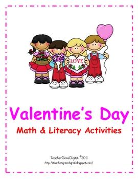 Valentine's Day Math & Literacy Packet