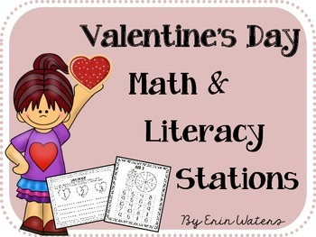 Valentine's Day Math & Literacy Stations BUNDLE