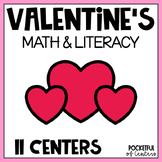 Valentine's Day Math and Literacy Centers for Pre-K and Ki