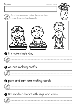 Valentine's Day Math & Literacy Worksheets & Activities No Prep