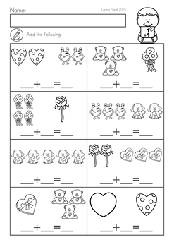 valentine 39 s day math literacy worksheets activities no prep by lavinia pop. Black Bedroom Furniture Sets. Home Design Ideas